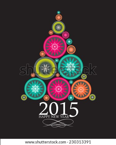 2015 Abstract Beauty Christmas and New Year Background. Vector Illustration - stock vector