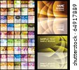 45 abstract business cards. Set 3. Eps8. Isolated groups and layers. - stock vector