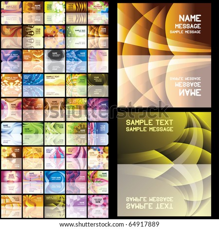 45 abstract business cards. Set 3. Eps8. Isolated groups and layers.