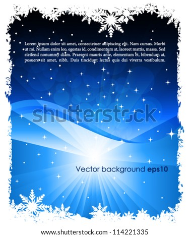 Abstract christmas background - stock vector