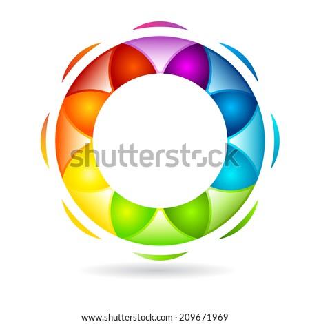 Abstract circular design  - stock vector