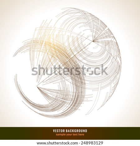 Abstract 3 D sphere.  Technology Background for Business Brochure or Cover. EPS10. - stock vector