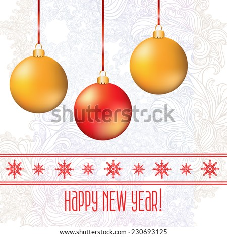 2015. Abstract decoration vintage background Happy New Year with space for your text. Suitable for various designs, invitation, thank you card, save the date cards and scrapbooking. Vector 10 EPS - stock vector