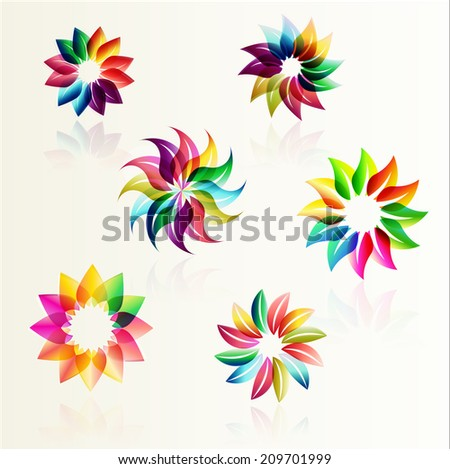 Abstract flowers design  - stock vector