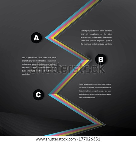 Abstract geometrical  background illustration for wallpaper, infographics, elegant and responsive flat interface design. CMYK edition - stock vector