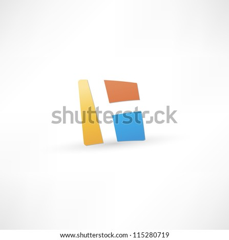 Abstract icon based on the letter H - stock vector