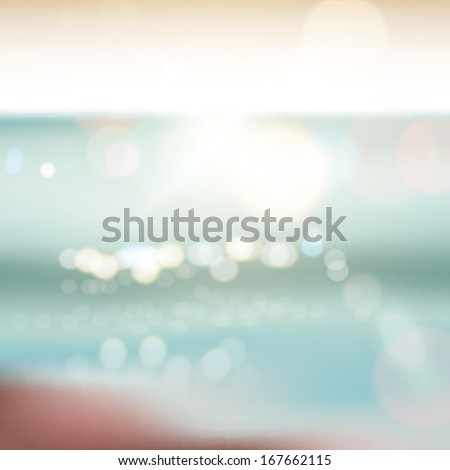 Abstract ocean seascape with blurred background - stock vector