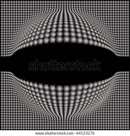 Abstract  Spherical Background with space - stock vector