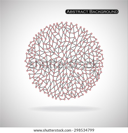 Abstract spherical shape. Points. Isolated on white background. Vector illustration. Eps 10 - stock vector
