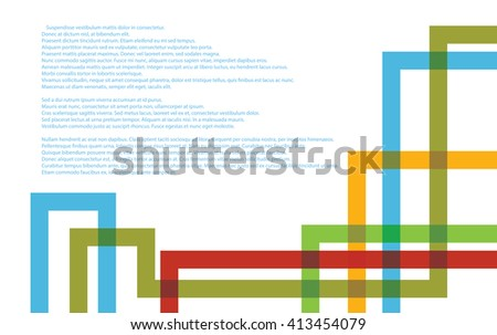 Abstract Technology background with colorful tube plexus - stock vector
