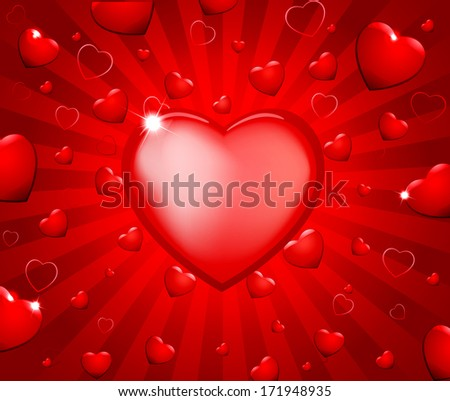 Abstract valentine background - stock vector