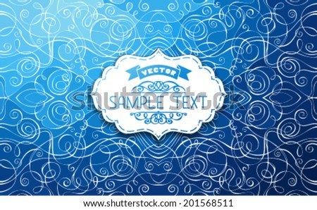 Abstract vector doodles background. Hand-drawn vector illustration with place for your text in the center. - stock vector