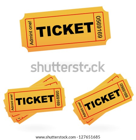 'admit one' style tickets vector template - stock vector