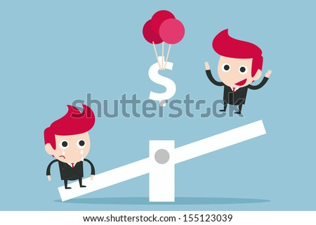 advantage business concept , vector - stock vector