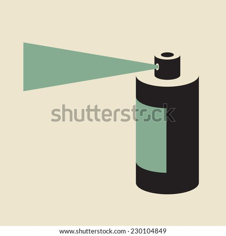 Aerosol- Spray Paint  - sealed pressurized container  - stock vector