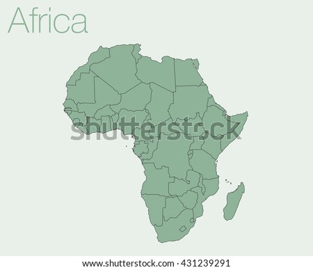 Africa map vector background - stock vector