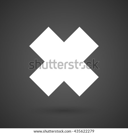 an irritating substance sign   white icon on a dark  background vector illustration - stock vector