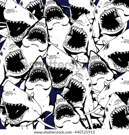 Angry Shark Collage