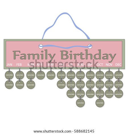 family birthday calendar template - lina003 39 s portfolio on shutterstock