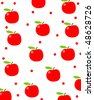 Apple background - stock vector