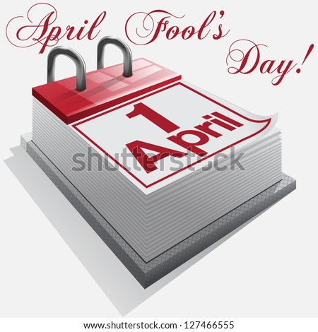 1 April, April Fool's Day, Day of laughter. Vector - stock vector