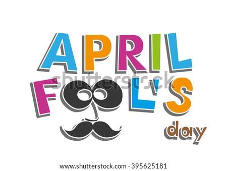 April Fools Day. vector illustration - stock vector