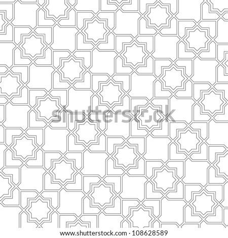 Arabic delicate pattern.Vector background - stock vector