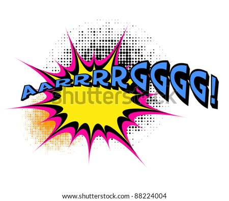 """Argg"". Comic book explosion. - stock vector"