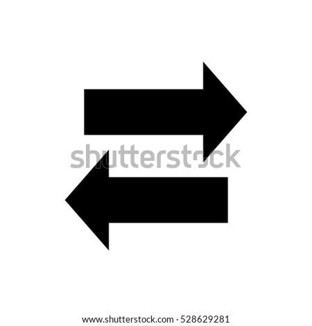 2 Arrows Vector Icon Stock Vector 528629281 Shutterstock