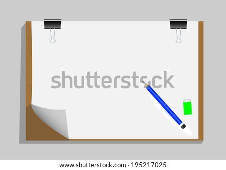 Art Board or Artist Clipboard - stock vector