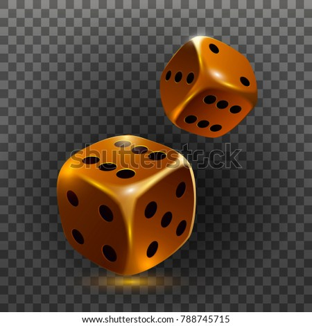 ?asino dice icon isolated on a transparent 3D object. Vector illustration