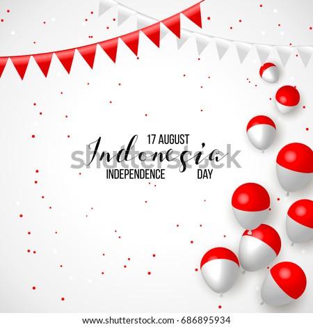 17 august indonesia happy independence day stock vector hd royalty indonesia happy independence day greeting card waving indonesian flags isolated on white m4hsunfo