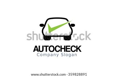 Auto Check Design Illustration - stock vector