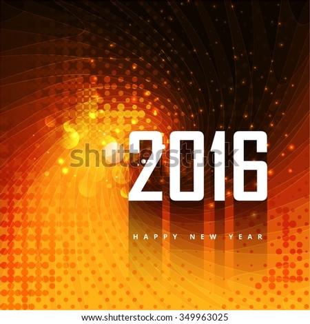 2016 background in color orange background - stock vector