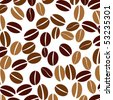background with coffee beans - stock vector