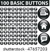 100 basic buttons. vector - stock vector