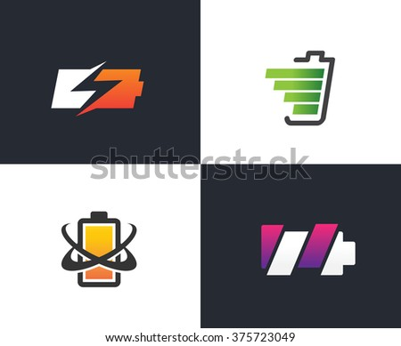 4 batteries, 4 different concepts, 4 amazing designs - stock vector