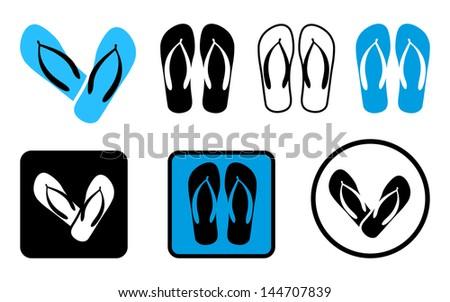 Beach Sandals - stock vector