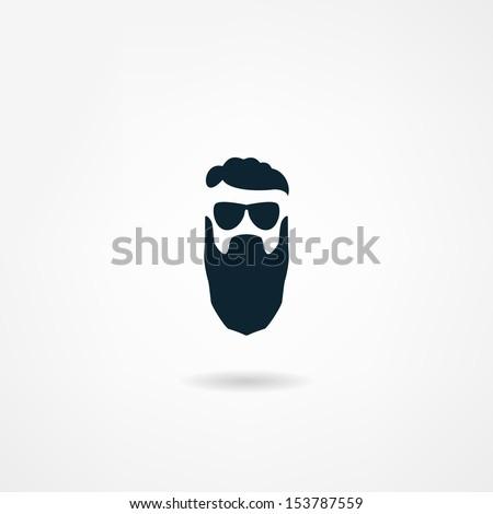 beard icon - stock vector