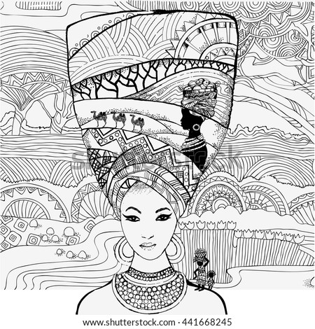 Vector Indian Woman Sari Illustration Stock Vector