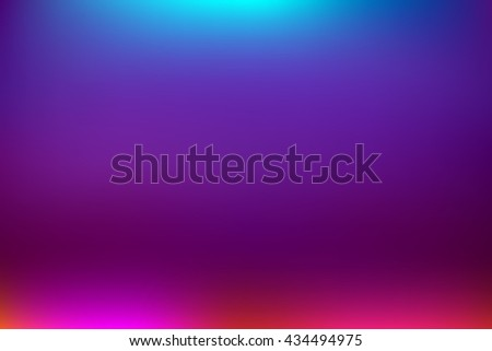 Beautiful blue party background blur with a blue light on the top and red at the bottom of the floor.  - stock vector