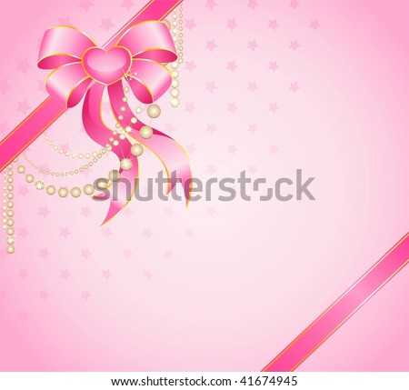 beautiful gift with a big color bow for christmastides