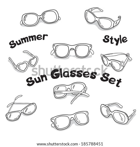 Beautifull Vector illustration of the sun glasses - stock vector