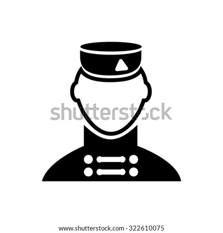 bellboy  icon - stock vector