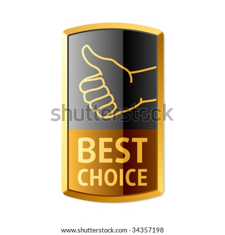 """Best choice"" emblem. Vector. - stock vector"