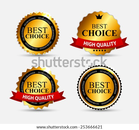 Best Choice Label Set Vector Illustration EPS10 - stock vector