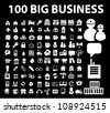 100 big business icons set, vector - stock photo