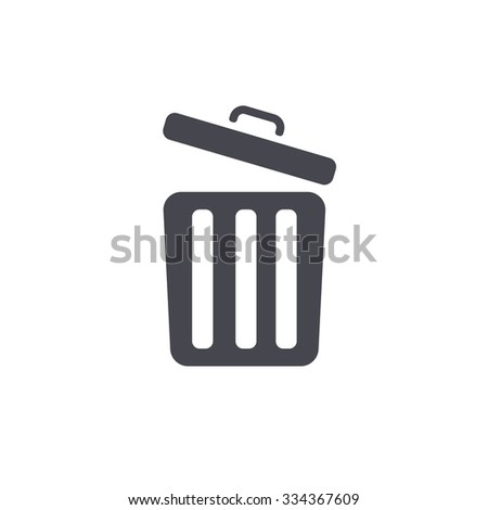 bin icon - stock vector