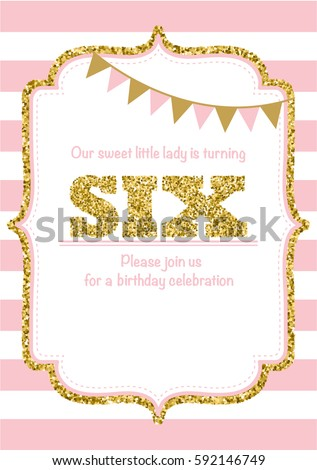 Birthday Invitation Template Stock Images, Royalty-Free Images