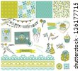 Birthday Party Set - for design and scrapbook - in vector - stock photo